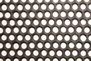 baldosa de hule perforado